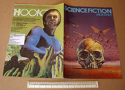 1974 Vintage Science Fiction Monthly V1 #6 Large Format Art Orientated SF Mag
