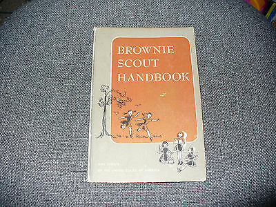 Vintage 1954 Brownie Scout Handbook Girl Scouts of the USA Hardcover Acceptable