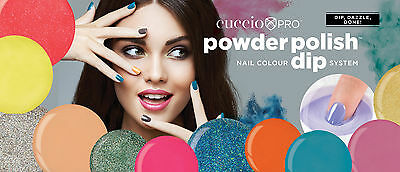 Cuccio Powder Polish Acrylic Nail Colour Dipping System Neon - Bright - Dark 45g