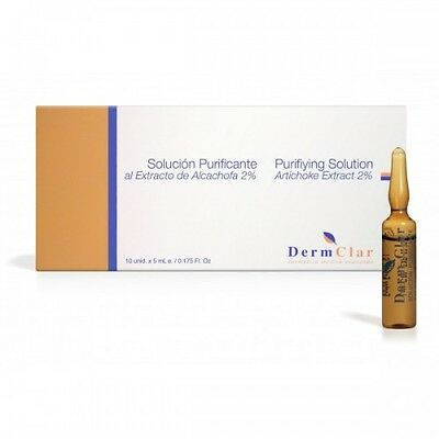 Dermclar PURIFIYING SOLUTION EXTRACT OF ARTICHOKE 5ML  Box of 5 Ampoules or 10