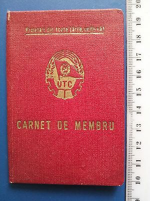 Rare Romania Communist Party Young wing ID booklet
