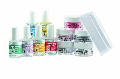 Cuccio Powder Dip System  Primer / Base &Top Coat/ Layering Gel / Activator 14ml