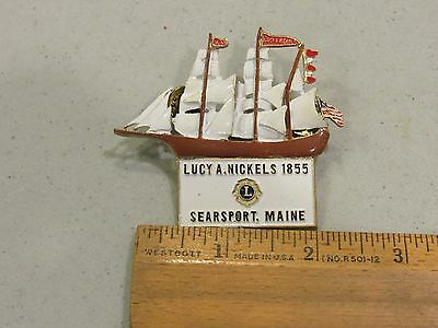 Lucy A Nickels 1855 Searsport Maine Lions Club Pins