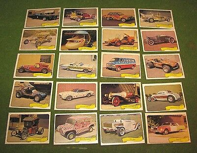 1975 Fleer Kustom Cars George Barris Complete Sticker Set Of 39