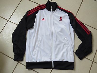 NWOT Adidas LFC Liverpool White,Red and Black Tracksuit Top,Zipped jacket-   M