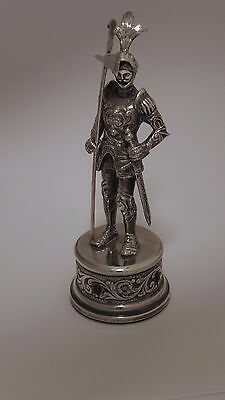 Continental Sterling Silver Miniature Knight C 1950