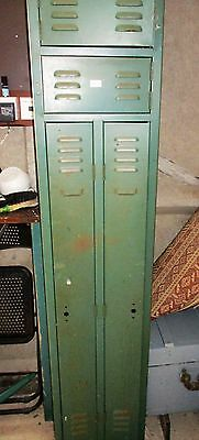 Vintage Military Metal Double Locker / Cabinet