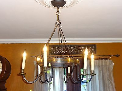Vintage Spanish Wrought Iron Chandelier