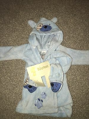 Baby Dressing Gown Baby Blue
