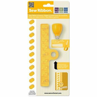 WE R MEMORY KEEPERS SEW RIBBON Punch&Stencil Shoelace 71213-8 R