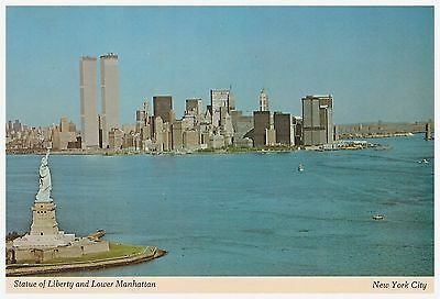Carte postale New York - Statue of Liberty and Lower Manhattan