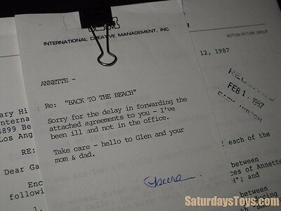 Personal Property of Annette Funicello 1987 File Copy BACK TO THE BEACH Contract