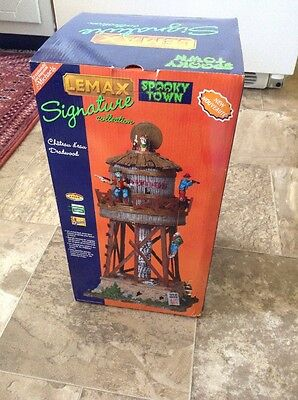Lemax #84765 - SPOOKY TOWN - Deadwood Water Tower - Lighted & Animated Western