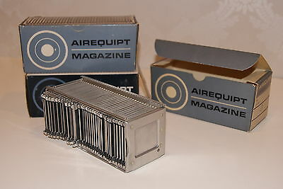 Lot of 3 Vintage Airequipt Straight Slide Projector Trays / Magazines in Boxes