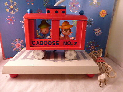 Vintage Boys IRMI Caboose No7 WORKING Nursery Lamp Wooden Childs Night Light