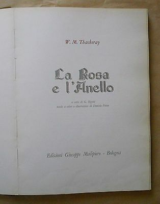 THACKERAY - LA ROSA E L'ANELLO - MALIPIERO 1966 illustazioni di Pitton
