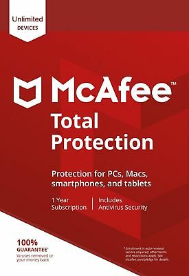 McAfee Total Protection 2020, UN-LIMITED Multi-Devices, 1Year (DOWNLOAD VERSION)