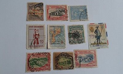 10 assorted mozambique postage stamps