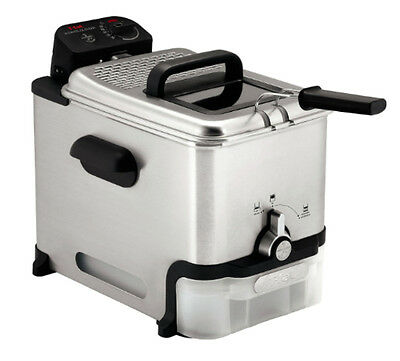 Immersion Deep Fryer Stainless Steel Auto Oil Filtration Fry Basket Thermostat