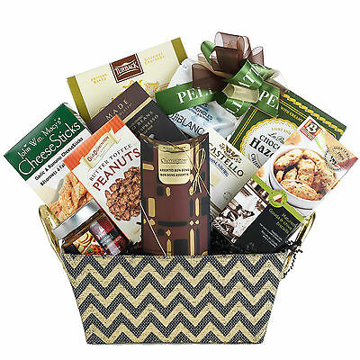 Father's Day Thank You Gourmet Gift Basket Camembert Chocolate Truffles Olives