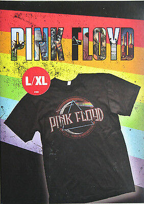 Pink Floyd T Shirt Brand New in Box Size L/XL Dark Side Moon Wall Authentic Tees