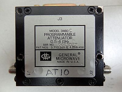 GM GENERAL MICROWAVE MODEL: 3460 PROGRAMMABLE ATTENUATOR 0.5-4 GHz **FREE S&H**