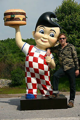 BOBS BIG BOY Gas Petro Burger Shoneys Advertising Sign statue 7ft Fiberglass Car