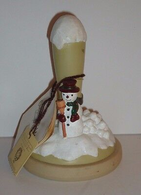 Brown Bag Snowman #15 Winter Snow Cookie Mold Stamp Press 1995