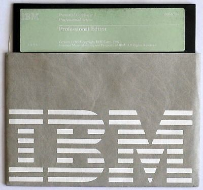 "IBM Professional Editor, Version 1.00, P/N 6024048, 5.25"" Disk ONLY"
