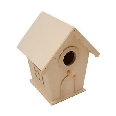 Bare Wood Mini Bird House #8440