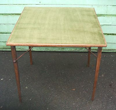 """Vintage Folding Card/BridgeTable. 28""""square. 27"""" high0Recovered & serviced"""