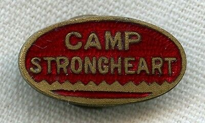 Early 1930's Boy Scouts Camp Strongheart (Tomahawk Lake, Wisconsin) Lapel Pin