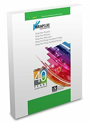 """WrapSure Thermal (Hot) Laminating Pouches Legal Size 3 Mil 9x14.5"""" 100 Pouches"""