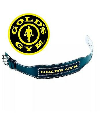 Gold's Gym Belt Weight Lifting 4'' Leather Lumber Back Support Training Excercis