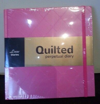 Luxe Diaries Quilted Perpetual Diary Planners NEW