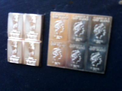 1g (1 gram) X 10 of Cook Islands 2015   .999 Fine Silver Bullion Bars