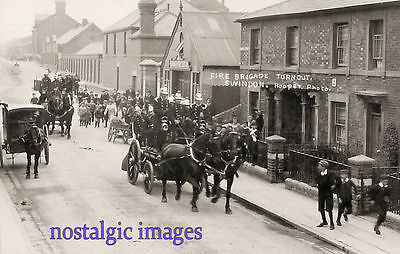 Photo Taken From A 1910 Image Of The Swindon Fire Brigade