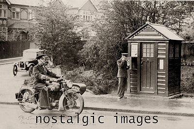 Photo Taken From A 1950's Image Of A St Albuns Police Officer Using His Box