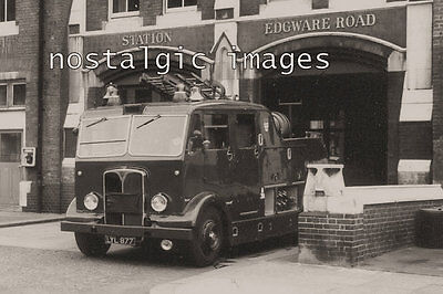 PHOTO TAKEN FROM A 1950's IMAGE OF EDGEWARE ROAD FIRE STATION