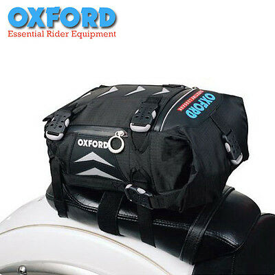 Oxford RT15 Motorbike Tailpack Pannier Bag~Cruiser Black Touring~All Weather