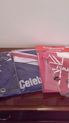 England flags and buntin