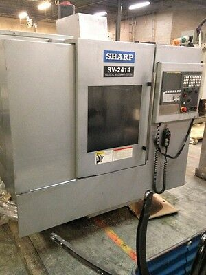 Used Sharp SV-2414 CNC Vertical Mill Machining Center Fanuc Box Way CT-40 2013