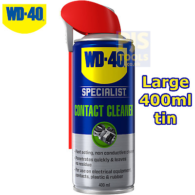 WD40 400ml contact cleaner spray fast drying ** Large can size WD-40 **