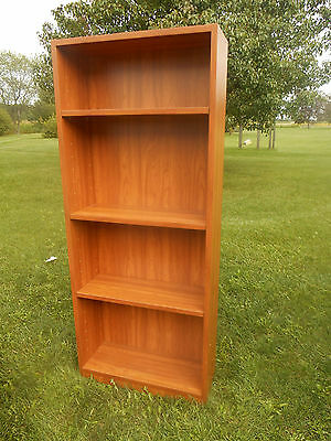 Vintage Mid-Century Danish Modern 5-Shelf Bookcase Display made in Denmark UP