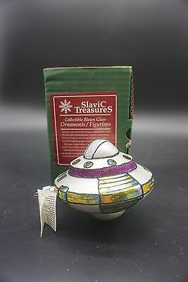 "Slavic Treasures Ornament ""Space Ship"" Mouth Blown hand painted  NIB #99-083-A"