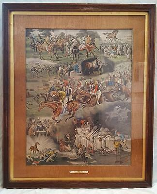 """A Racing Nightmare"". Rare Victorian print. Horse racing themed Christmas gift!"