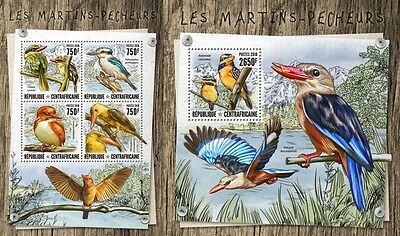 Z08 CA16814ab CENTRAL AFRICA 2016 Kingfishers MNH Set