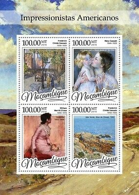 Z08 IMPERFORATED MOZ16302a MOZAMBIQUE 2016 American Impressionists MNH