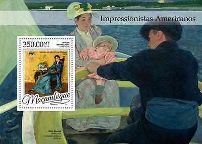 Z08 IMPERFORATED MOZ16302b MOZAMBIQUE 2016 American Impressionists MNH