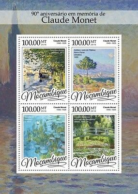 Z08 IMPERFORATED MOZ16307a MOZAMBIQUE 2016 Claude Monet MNH
